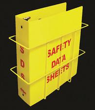 "OSHA Budget  Right To Know Center 1.5"" SDS Binder & Wire Rack (MSDS Binder)"