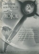 1948 Rotol Propellers Aviation Ad Argentina Government Agreement  England