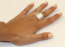 eli k Sterling Silver 925 Plate Wide Coil Continuous Unisex Band Ring size 8