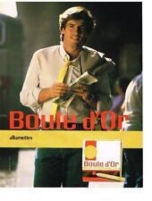 PUBLICITE ADVERTISING   1984   BOULE D'OR  ALUMETTES