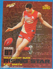 2012 AFL Select Champions Rising Star card #RS7 Zac Smith - GOLD COAST SUNS