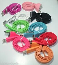 Flat USB Charge Sync Cable For Apple iPhone 3G/S 4/4S iPad iPod Touch Nano