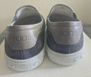 Grey Tod's PANTOFOLA CASSETTA Made In Italy suede fashion slip-on size 11
