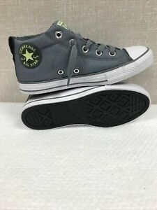 CONVERSE CTAS STREET MID Cool Grey Junior/Youth Casual Sneakers/Shoes Size 3 NIB