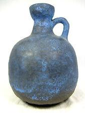 70´s otto gerharz design Ruscha CERAMICA Jug VASO Beautiful Blue Glaze 333 19cm