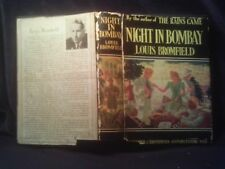 NIGHT IN BOMBAY, Louis Bromfield, Hardcover/Dust Jacket 1st Edition 1940