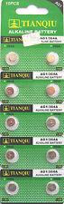 10x AG1 364 LR621 531 SR60 1.5V Alkaline Button Cell Watch Batteries