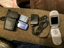 LG Flip Phone VX3400 Working With Charger, and leather case