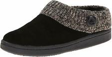 Clarks Women's Knit Scuff Leather Slipper Mules Sweater Cuff Clog