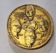 United Transportation Union Commemorative Medallion • 1969 Progress Thru Unity