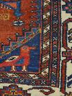 Antique Village rug estate carpet 3'10''x5'10'' ca 1930s ducks pictorial
