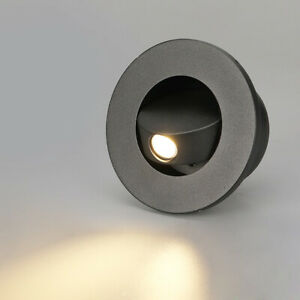 3W LED Wall Flush Mount Fixture Light Step Stair Lighting Reading Bedroom Circle