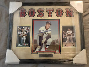 Ted Williams Boston Red Sox Autographed Picture. Bobby Thomson Autographed 8x10.
