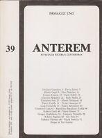 Passaggi Uno, Anterem, rivista letteraria, 1989, Kemeny, Lamarque, poesia