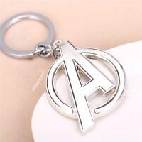 Marvel Avengers Iron Man Hulk Captain America Silver Keyring Keychain Gift Bag