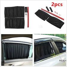 2p Black Adjustable VIP Car Window Windscreen Mesh Style Curtain Sun Shade Visor