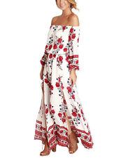 US Summer Women BOHO Beach Dress Long Maxi Bodycon Evening Party Patchwork Dress