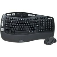 Logitech Wave MK550 Desktop Wireless Multimedia Keyboard & Laser Mouse Kit Black