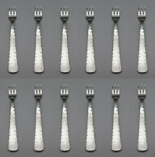 Reed & Barton Stainless SILVER ECHO  Cocktail Forks - Set of Twelve New