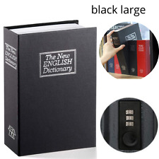 New Book Safe Box Lock Vault Water Fire Proof Home Money Gun Cash Sentry storage