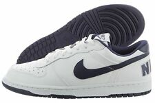 NIKE Big Nike Low Leather Basketball Casual Shoes 355152 White Navy Mens Size 13