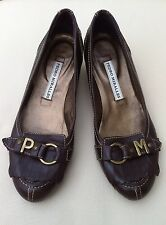 PEDRO MIRALLES Brown Leather Shoes Heels Size UK 3 EU 36 Initials P M WORN ONCE