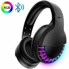 UK Wireless Bluetooth Gaming Headset Headphones Stereo for w/Mic PC RGB Backlit