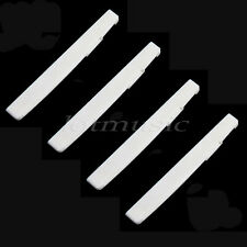 4 Pcs Folk Acoustic Guitar Saddle Cattle Bone 72x3x9mm