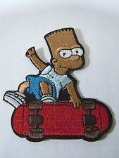"""BART SIMPSON on His Skateboard Embroidered Iron-On Patch - 2.5"""""""