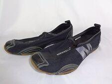 MERRELL Women's Sz 6.5 W Barrado Black Sport Zip-Top Closure Slip-On Shoes