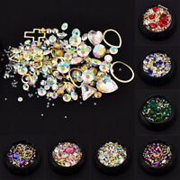 Multi-size Nail Art Crystal Rhinestones Metal Stones Stud 3D Nail Art Decoration