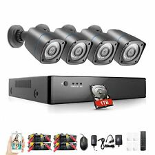 Rraycom 8CH Security Camera System HD-TVI 1080P DVR with 4X HD Cameras