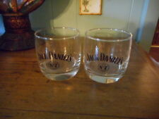 Jack Daniels Old No 7 Round Wiskey Glasses 1904 Gold Medal St. Louis