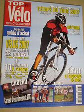 TOP VELO N°117: DECEMBRE 2006: SPECIAL GUIDE D'ACHAT - DIETETIQUE - VELOS 2007
