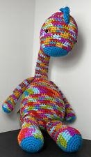 Brontosaurus Hand Knitted Toy Handmade Colorful Stuffed Animal Knit Crochet New
