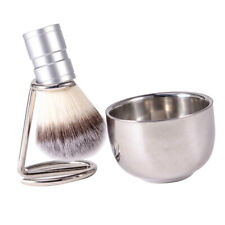 Vintage Mens Shaving Kit Gift Set w/Shaving Brush Shaving Bowl & Brush Stand