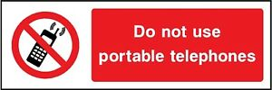 do not use portable telephones