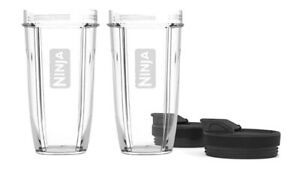 Lot of 2) BRAND NEW Nutri Ninja Pro BL480 Replacement 24oz Cup with Sip Seal Lid