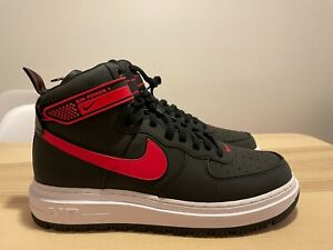 NEW Nike Air Force 1 Boot Black University Red Size 12 DA0418 002