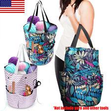 Knitting Bag, Portable Yarn Storage Tote for Knitting Needles, Crochet Hooks New