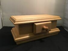 Unfinished Wood Craft Jewellery Box with Drawer for DIY Project (WC17-2)