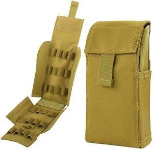 25 Round 12 Shotgun-Gauge Shell Holder Tactical Magazine Pouch Ammo Cartridge US