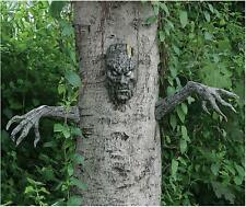 Scary Tree Decoration Backyard Outdoor Yard Decor Monster Halloween Arms Face