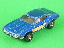 Hot Wheels 442 blu corsa Mattel modellino vintage car auto da collezione