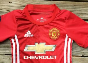 #34 Small Kid's 4-5 yrs Manchester United EPL Soccer Jersey Clean FREE POST