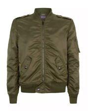 Ralph Lauren Purple Label Green Olive Bomber Jacket Japanese Satin Wool Med