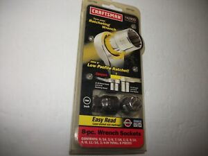 Vintage New in Package Craftsman 942800 8 pc 12 pt SAE Low Profile Socket Set