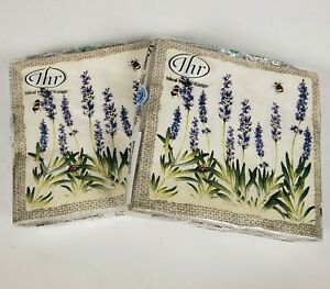IHR Cocktail Napkins 20 Ct  Disposable 3-Ply Paper Rustic Lavender