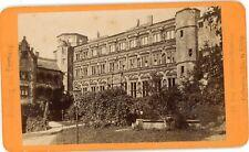 PHOTO CDV -13 der Otto-Heinrichbaues in Heidelberg Deutschland 1880