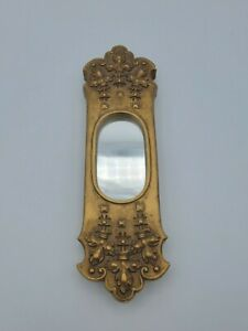 Vintage GARGOYLES STUDIO Brooklyn NY USA Gold Ornate Plaster Wall Mount Mirror